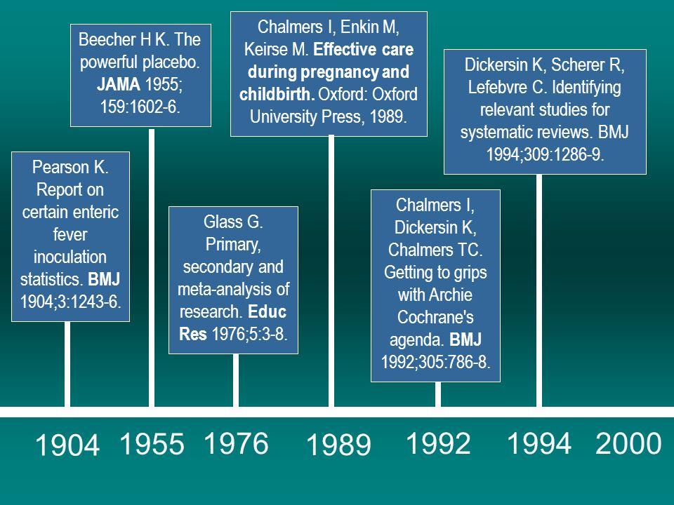 Os Passos Mulrow CD, Oxman AD, editors.Cochrane Collaboration Handbook [updated September 1997].