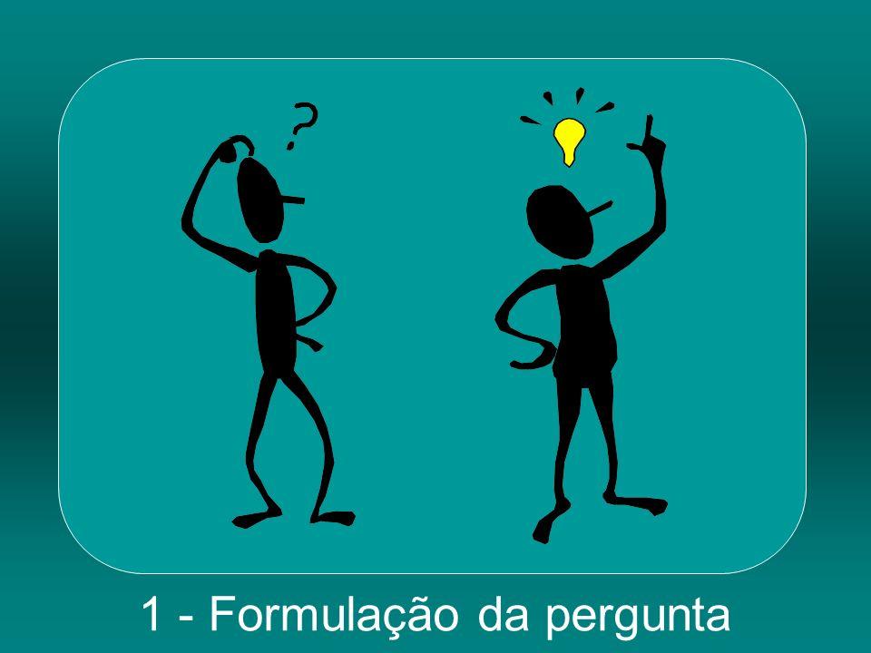 1 - Formulação da pergunta