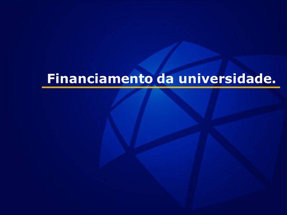 Financiamento da universidade.
