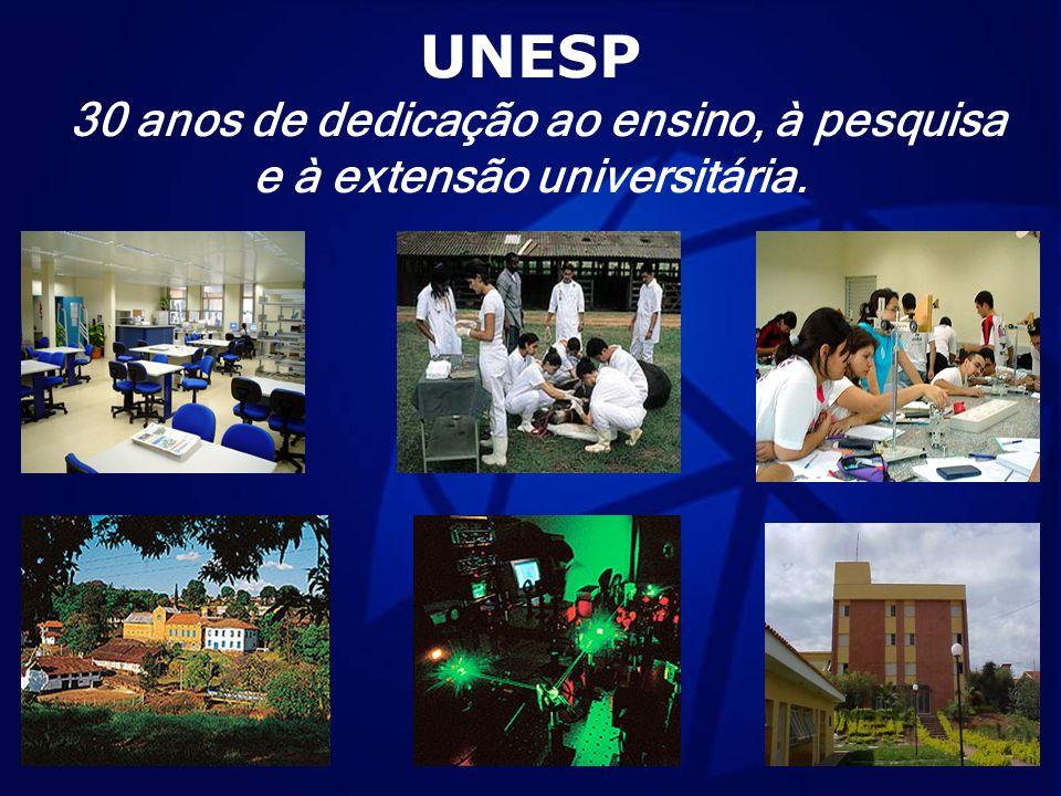 UNESP 30 anos de dedicação ao ensino, à pesquisa e à extensão universitária.
