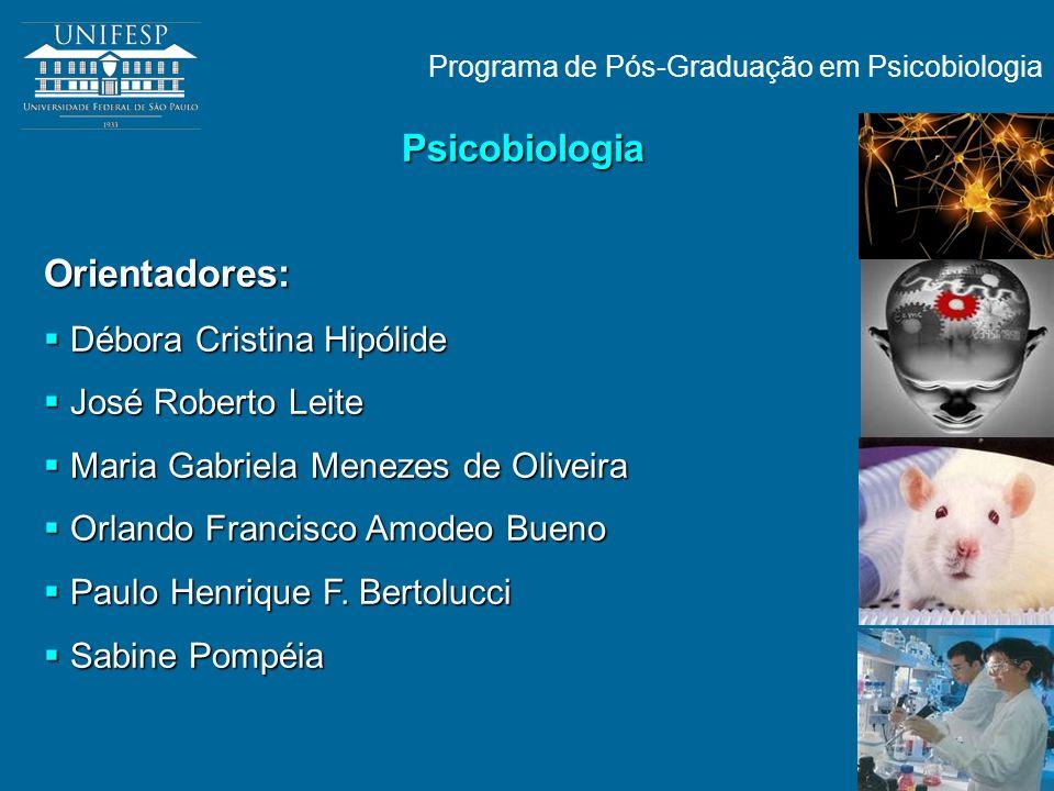 Programa de Pós-Graduação em Psicobiologia Orientadores: Débora Cristina Hipólide Débora Cristina Hipólide José Roberto Leite José Roberto Leite Maria