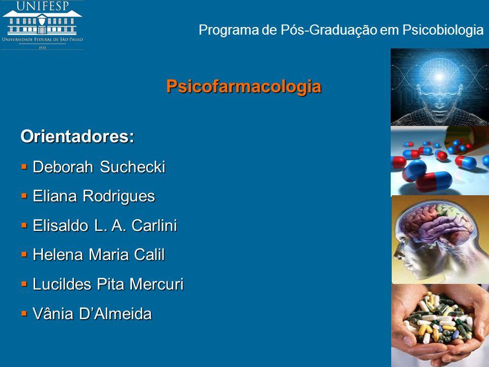 Programa de Pós-Graduação em Psicobiologia Psicofarmacologia Orientadores: Deborah Suchecki Deborah Suchecki Eliana Rodrigues Eliana Rodrigues Elisald