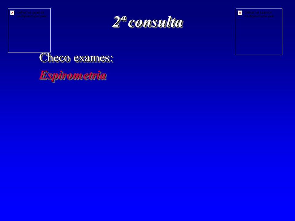 2ª consulta Checo exames: Espirometria Espirometria