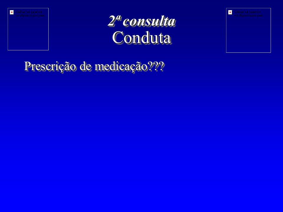 CondutaConduta Prescrição de medicação??? 2ª consulta
