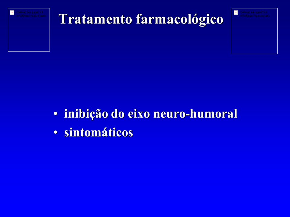 Tratamento farmacológico inibição do eixo neuro-humoralinibição do eixo neuro-humoral sintomáticossintomáticos