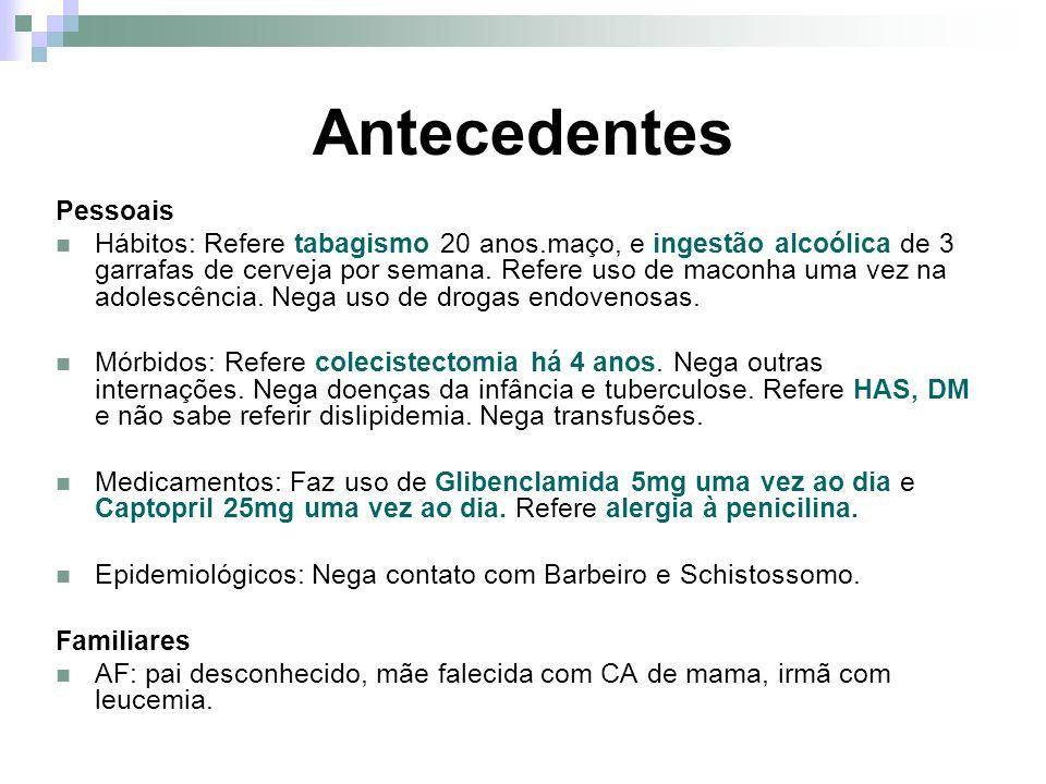 Conduta Controle da glicemia e da PA ambulatorial.