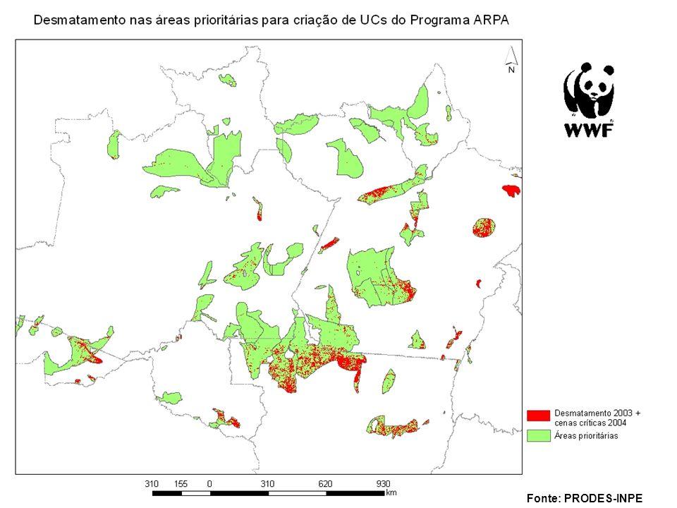 Analise de lacunas regionais baseadas em planejamento sistemático da conservação Ecorregião da Serra do Mar Cerrado e Pantanal Várzea Amazônica Programa Arpa Estado de Goiás