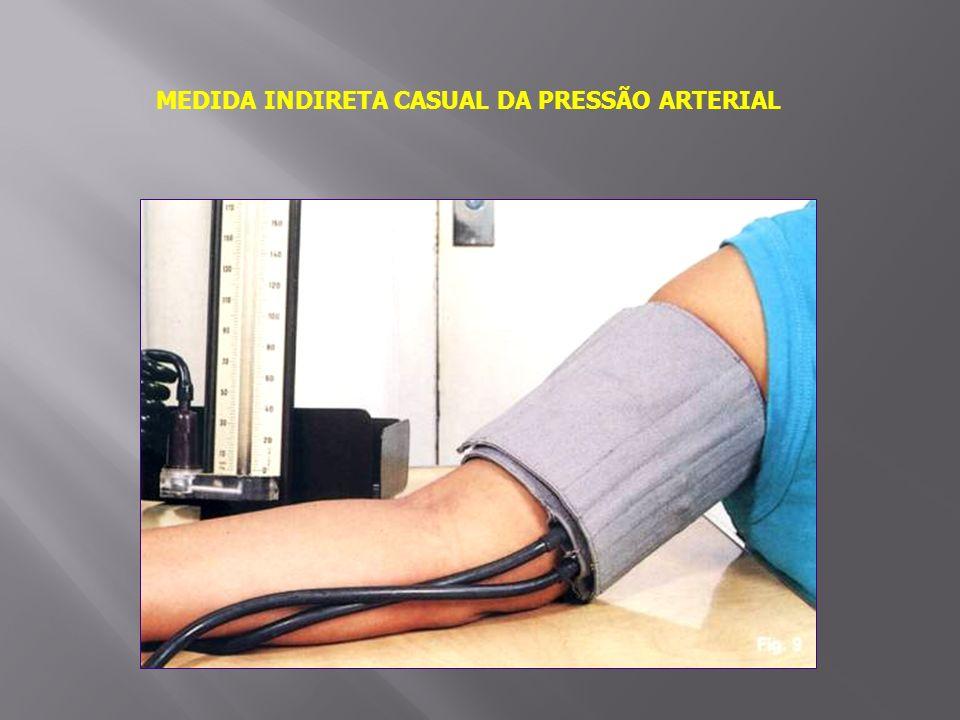 MEDIDA INDIRETA CASUAL DA PRESSÃO ARTERIAL
