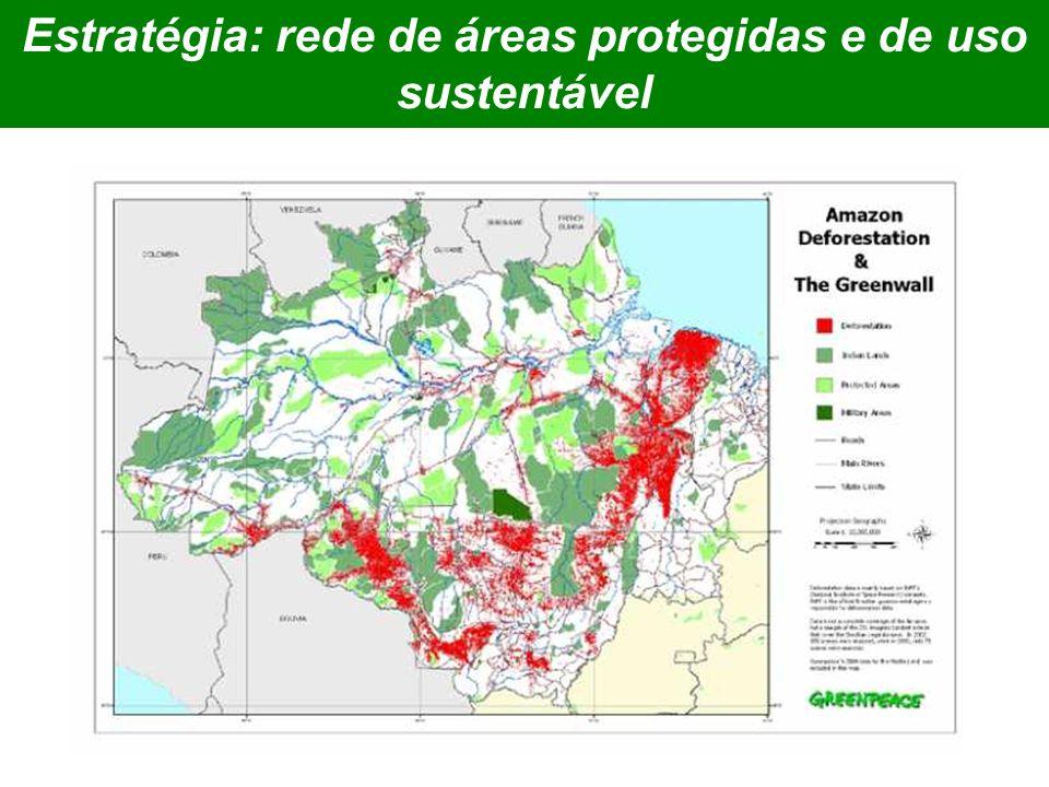 Estratégia: rede de áreas protegidas e de uso sustentável