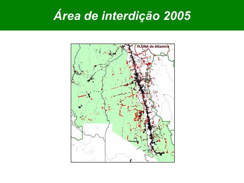 Área de interdição 2005