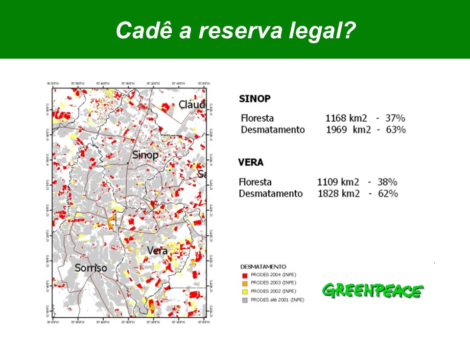 Cadê a reserva legal?