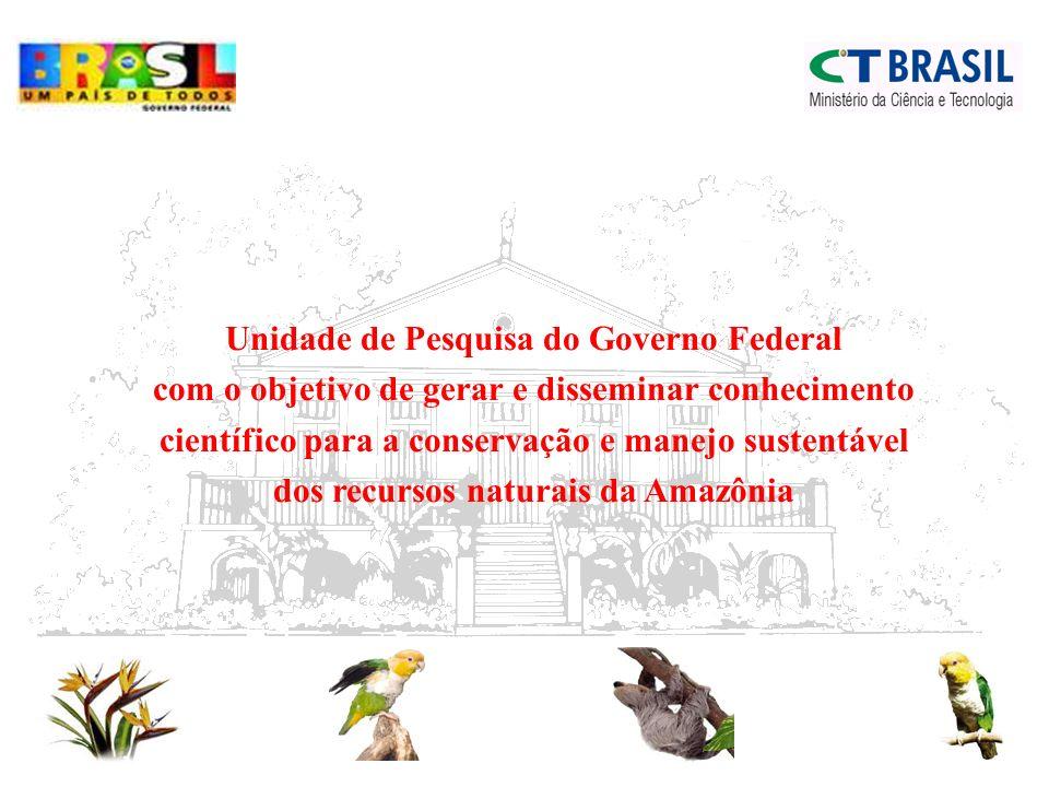Unidade de Pesquisa do Governo Federal com o objetivo de gerar e disseminar conhecimento científico para a conservação e manejo sustentável dos recursos naturais da Amazônia