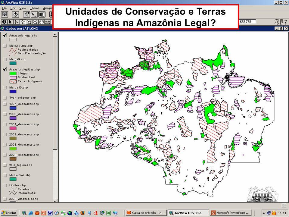 Unidades de Conservação e Terras Indígenas na Amazônia Legal?