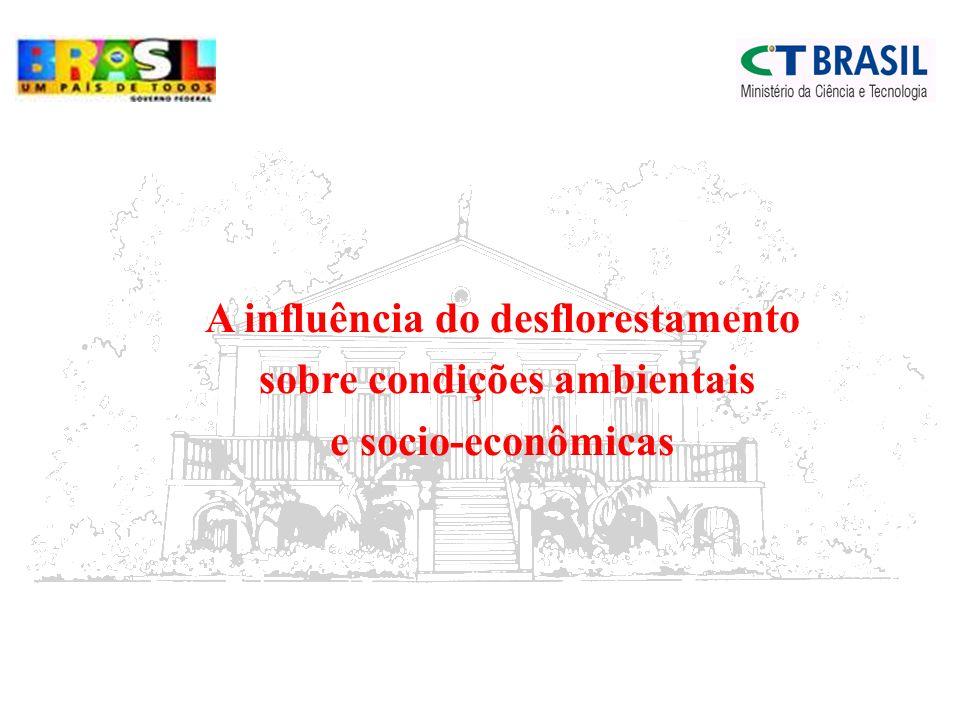A influência do desflorestamento sobre condições ambientais e socio-econômicas