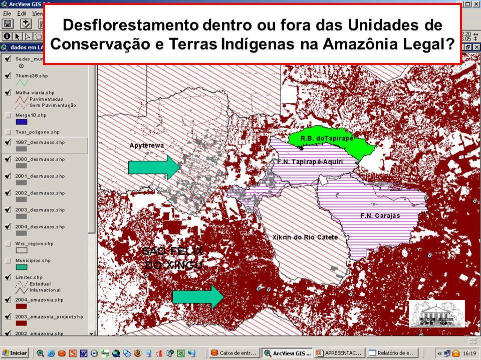 Desflorestamento dentro ou fora das Unidades de Conservação e Terras Indígenas na Amazônia Legal?