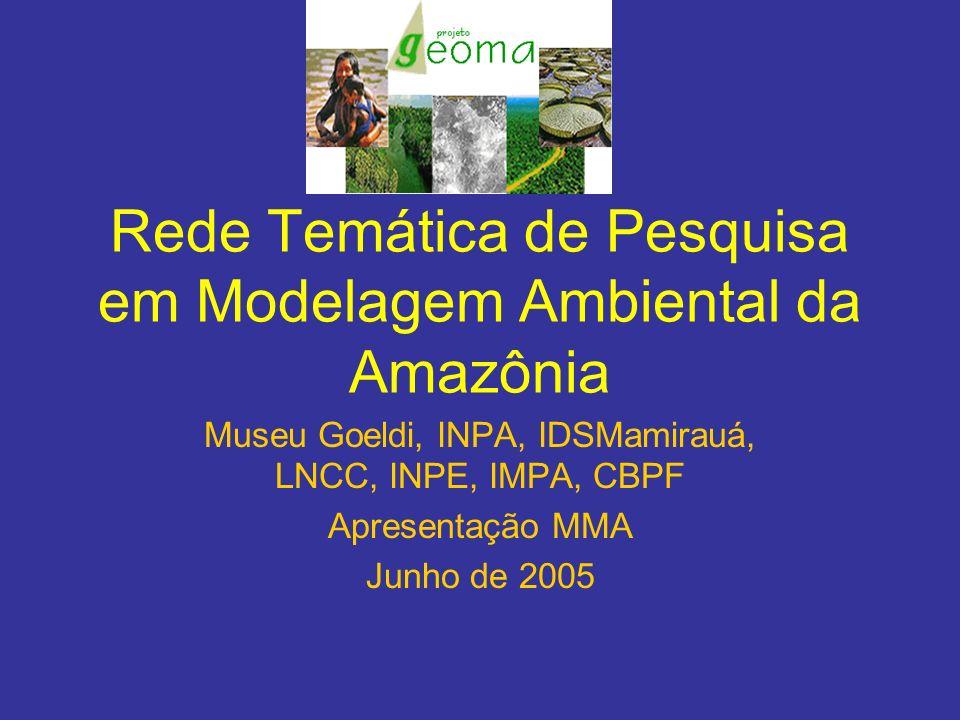 Rede Temática de Pesquisa em Modelagem Ambiental da Amazônia Museu Goeldi, INPA, IDSMamirauá, LNCC, INPE, IMPA, CBPF Apresentação MMA Junho de 2005