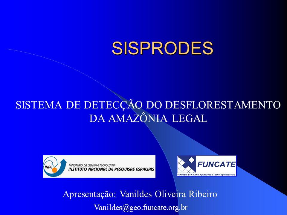 Automatizar a metodologia de detecção de áreas desflorestadas da Amazônia Legal, através da implantação de um sistema com as seguintes características: Base de dados unificada Sistema multi-usuário Controle de acesso Multi-sensores Automatização do procedimento de cálculo da taxa de desflorestamento anual Disseminação dos dados via WEB OBJETIVO MODELO PROCESSOS ARQUITETURA APLICAÇÃO