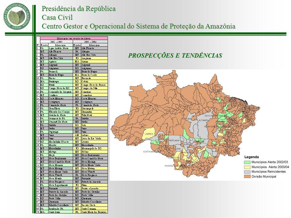 Presidência da República Casa Civil Centro Gestor e Operacional do Sistema de Proteção da Amazônia PROSPECÇÕES E TENDÊNCIAS