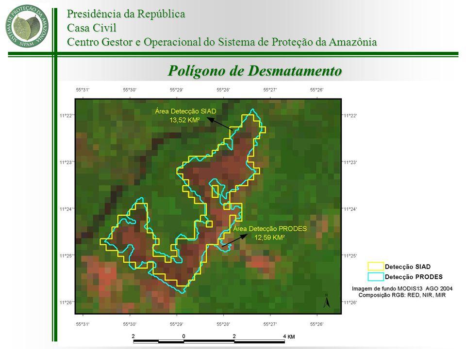 Presidência da República Casa Civil Centro Gestor e Operacional do Sistema de Proteção da Amazônia Polígono de Desmatamento