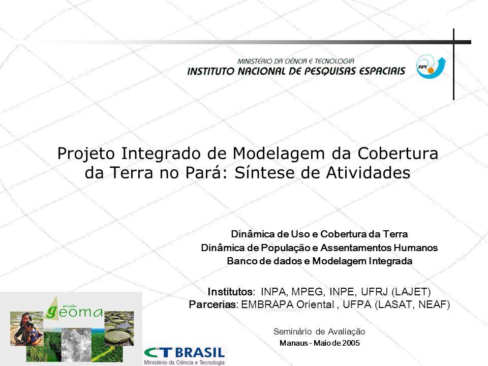 Projeto Integrado de Modelagem da Cobertura da Terra no Pará: Síntese de Atividades Dinâmica de Uso e Cobertura da Terra Dinâmica de População e Assen