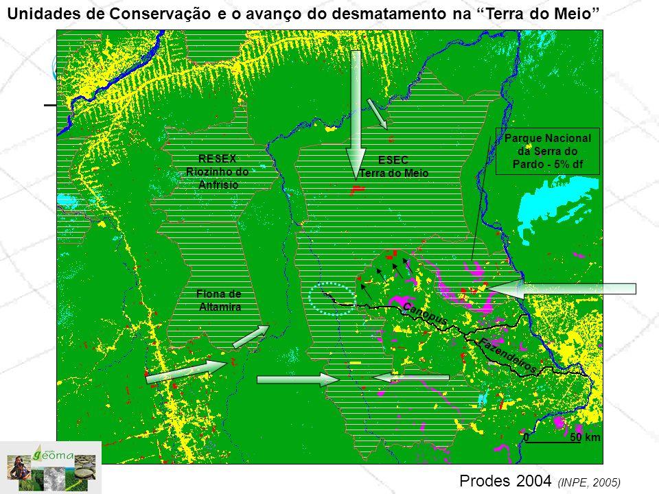 ESEC Terra do Meio Parque Nacional da Serra do Pardo - 5% df Canopus Fazendeiros RESEX Riozinho do Anfrísio Flona de Altamira Unidades de Conservação