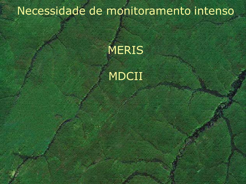 Necessidade de monitoramento intenso MERIS MDCII