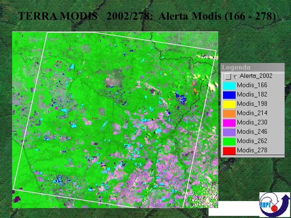 TERRA MODIS 2002/278: Alerta Modis (166 - 278)