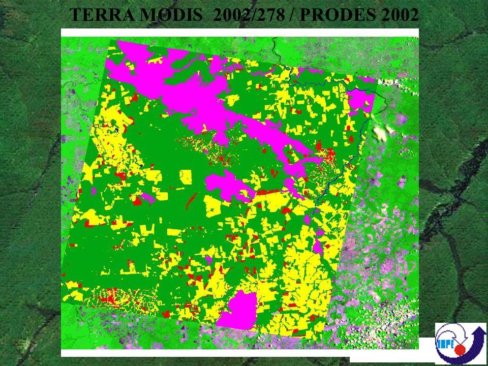 Análise de viabilidade da aplicação do WFI no DETER Preparação de mosaicos estaduais georreferenciados Estudo de caso com comparação entre resultados obtidos com WFI e CCD – Rondônia e Mato Grosso