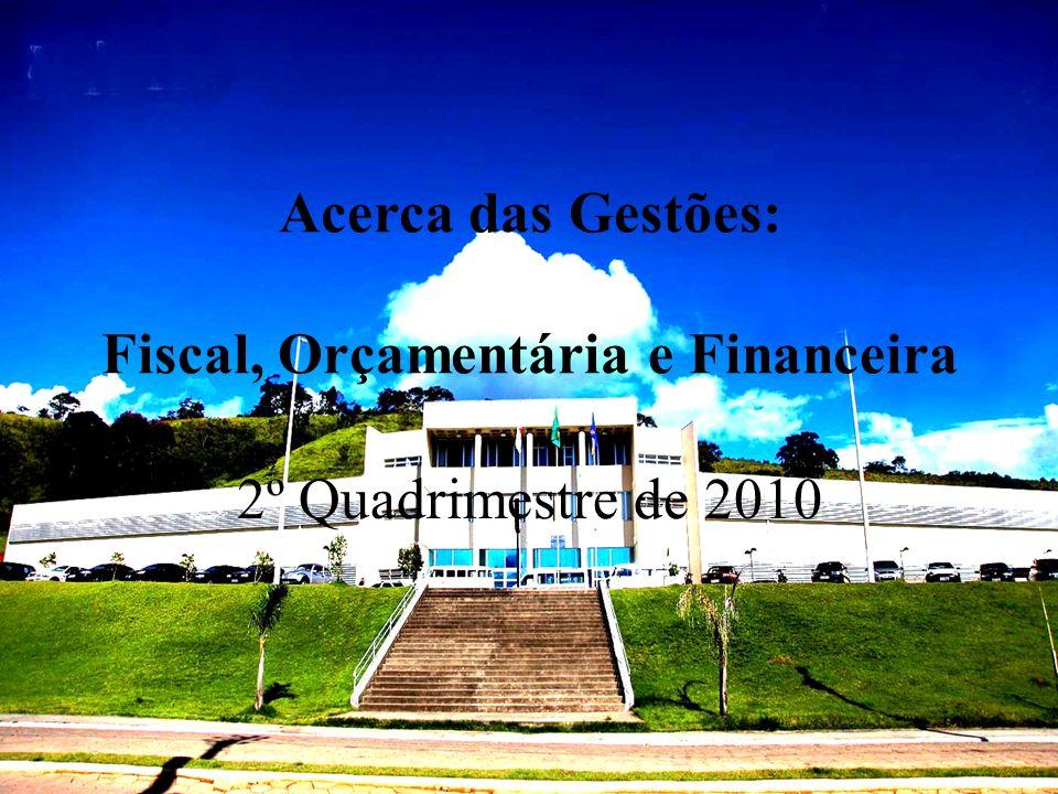 Acerca das Gestões: Fiscal, Orçamentária e Financeira 2º Quadrimestre de 2010