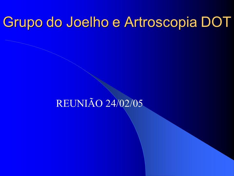 Grupo do Joelho e Artroscopia DOT REUNIÃO 24/02/05
