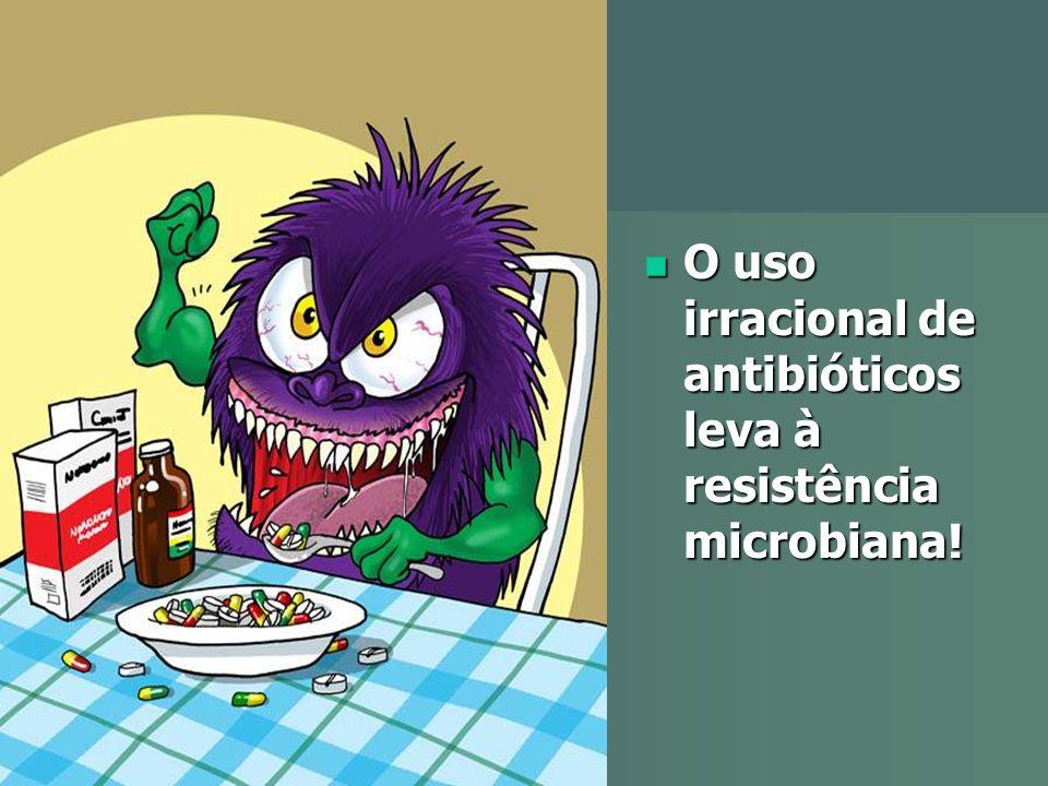 O uso irracional de antibióticos leva à resistência microbiana! O uso irracional de antibióticos leva à resistência microbiana!
