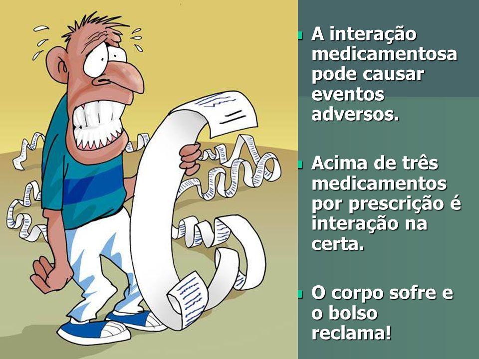 A interação medicamentosa pode causar eventos adversos. A interação medicamentosa pode causar eventos adversos. Acima de três medicamentos por prescri
