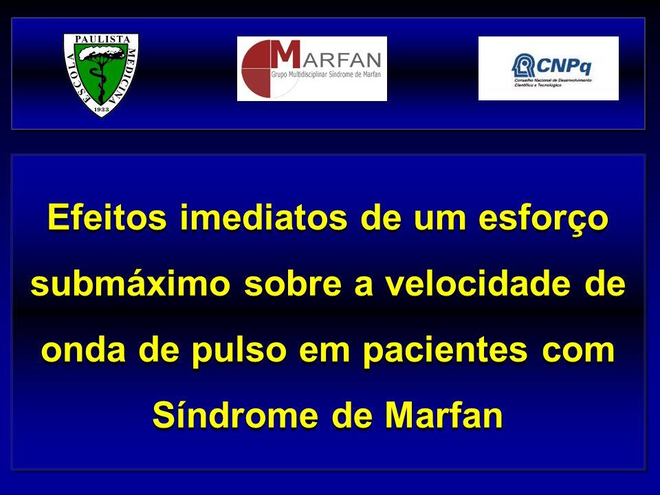 Efeitos imediatos de um esforço submáximo sobre a velocidade de onda de pulso em pacientes com Síndrome de Marfan