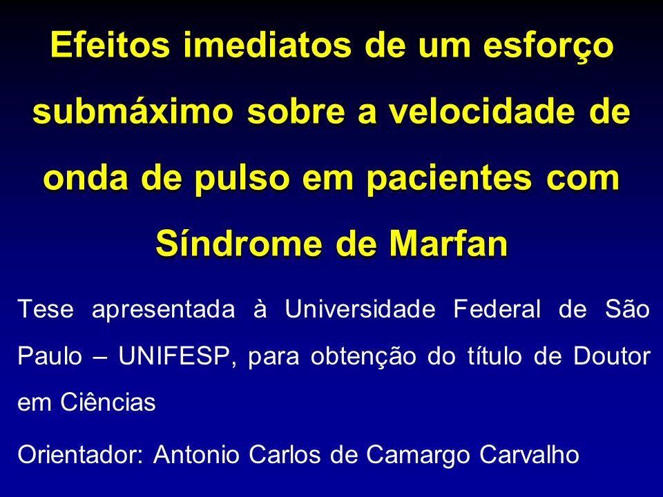 Sindrome de Marfan Recomendações para Atividades Físicas (Jovens com Doença Genética Cardiovascular AHA – Comitê sobre exercício) Esportes recreacionais: (0-1) em geral não recomendado ou fortemente desencorajado; (2-3) intermediários e necessidade de avaliação clinica individual; (4-5) provavelmente permitidos SM: Leve(0 – 4 met) patins(5); moderada(4 – 6 met) bicicleta(3) e alta(>6 met)futebol(2), patins no gelo(1) Maron et al.