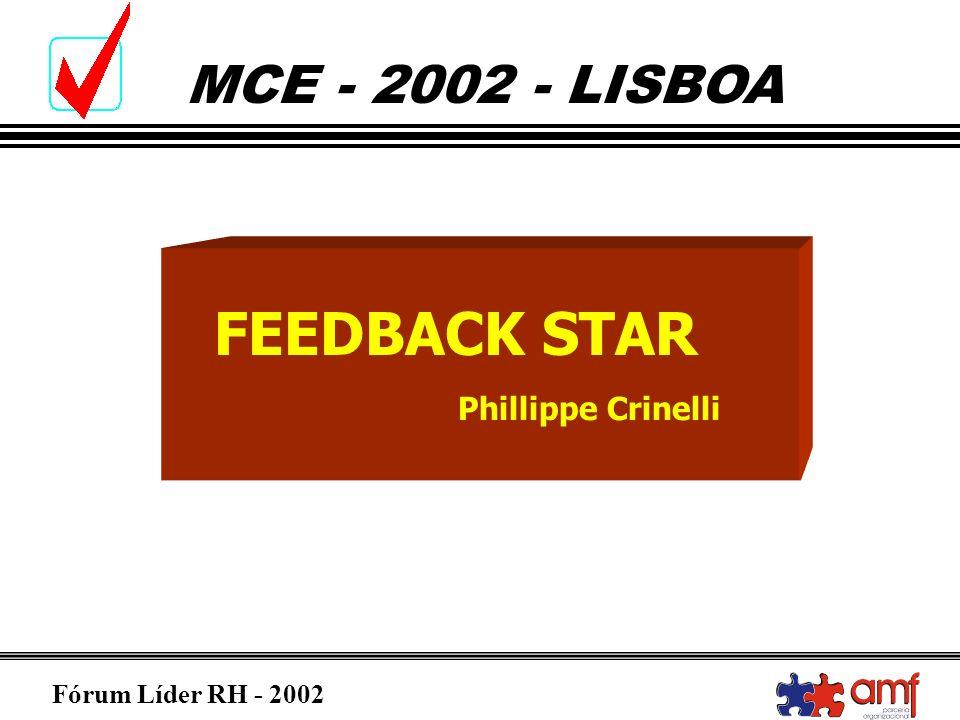 Fórum Líder RH - 2002 MCE - 2002 - LISBOA FEEDBACK STAR Phillippe Crinelli