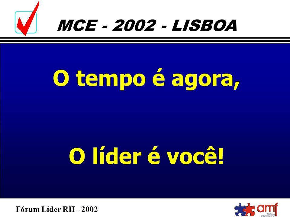 Fórum Líder RH - 2002 MCE - 2002 - LISBOA O tempo é agora, O líder é você!