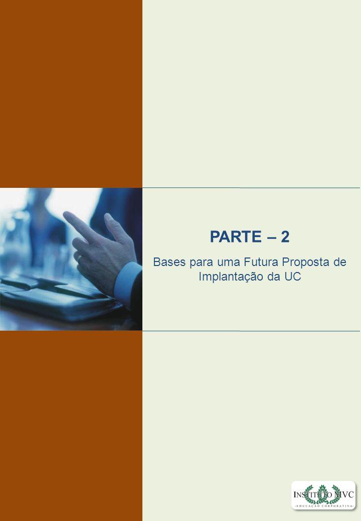 Educação Corporativa com Foco em Resultados Educação Corporativa com Foco em Resultados Educação Corporativa PARTE – 2 Bases para uma Futura Proposta
