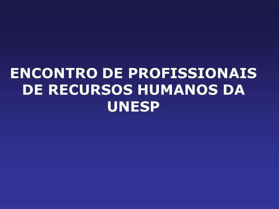 ENCONTRO DE PROFISSIONAIS DE RECURSOS HUMANOS DA UNESP
