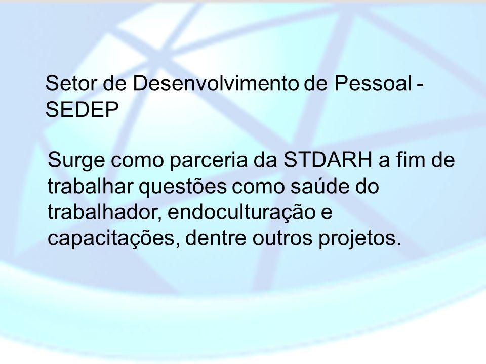 Surge como parceria da STDARH a fim de trabalhar questões como saúde do trabalhador, endoculturação e capacitações, dentre outros projetos. Setor de D
