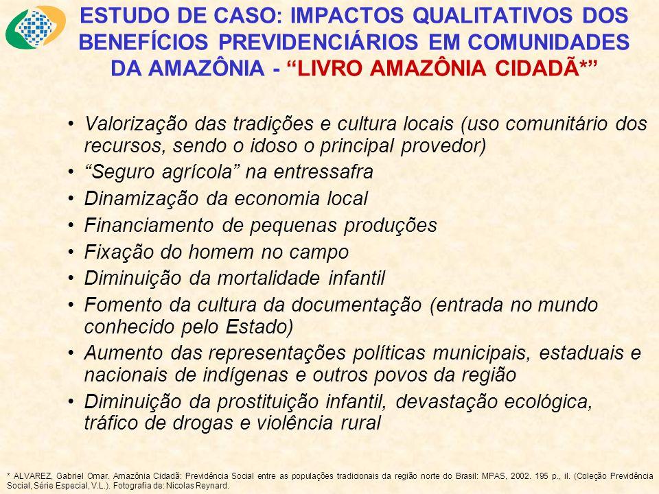 ESTUDO DE CASO: IMPACTOS QUALITATIVOS DOS BENEFÍCIOS PREVIDENCIÁRIOS EM COMUNIDADES DA AMAZÔNIA - LIVRO AMAZÔNIA CIDADÃ* Valorização das tradições e c