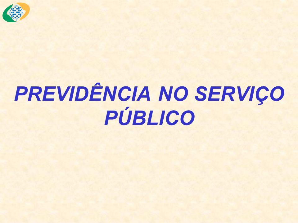 PREVIDÊNCIA NO SERVIÇO PÚBLICO