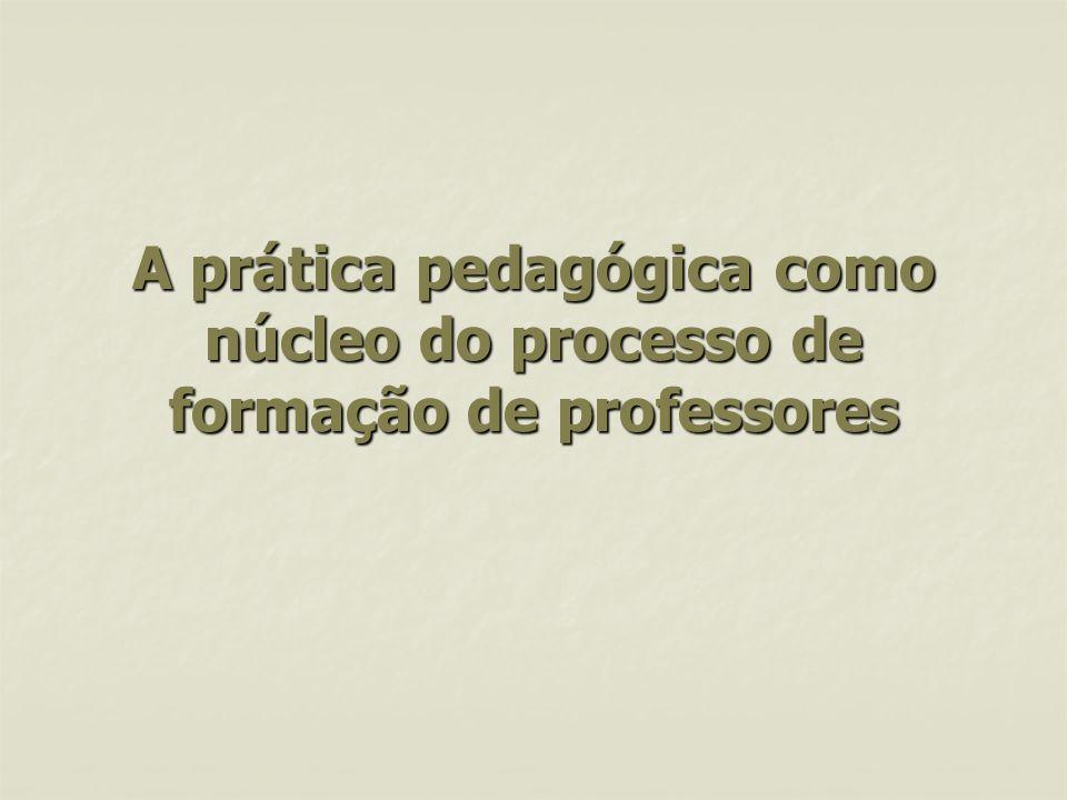 A prática pedagógica como núcleo do processo de formação de professores A prática pedagógica como núcleo do processo de formação de professores
