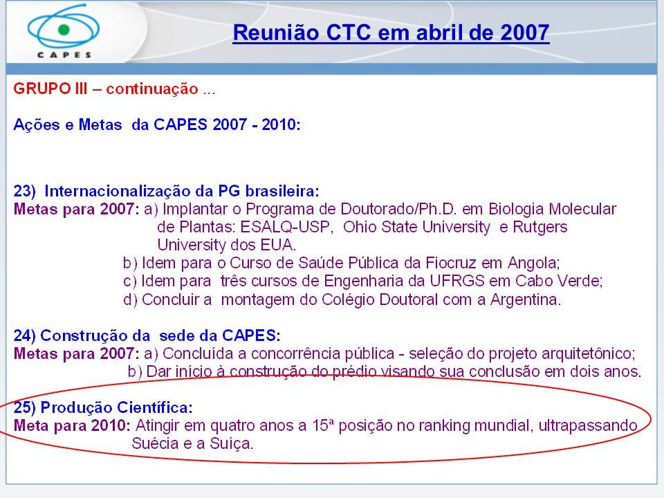 Reunião CTC em abril de 2007