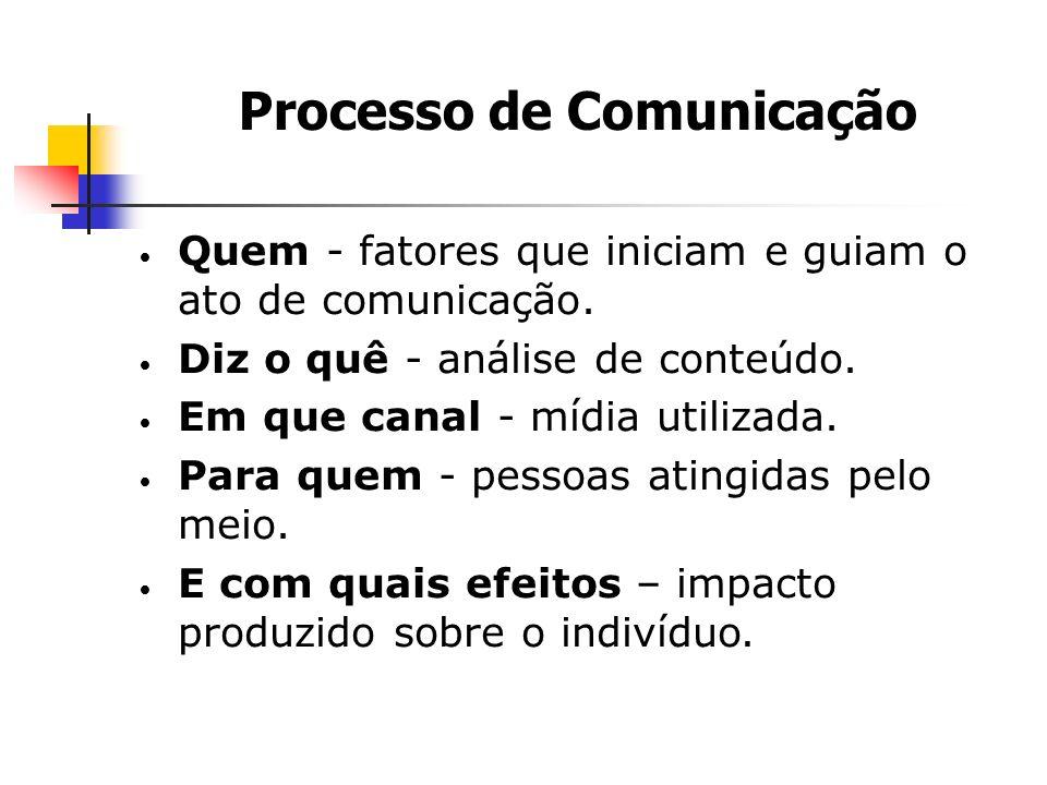 Quem - fatores que iniciam e guiam o ato de comunicação.