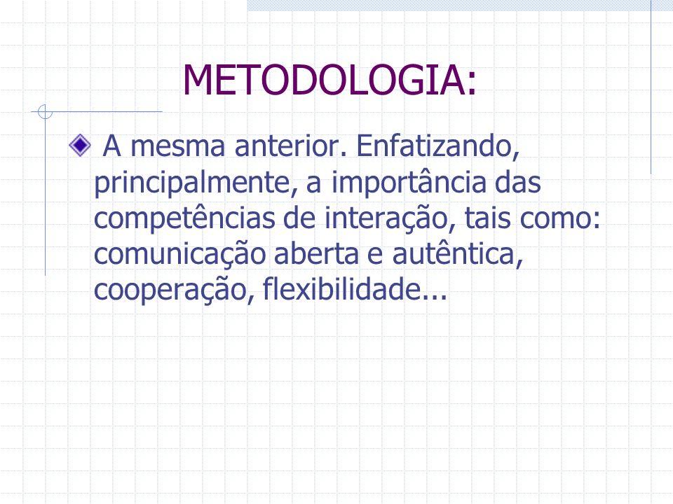 METODOLOGIA: A mesma anterior.