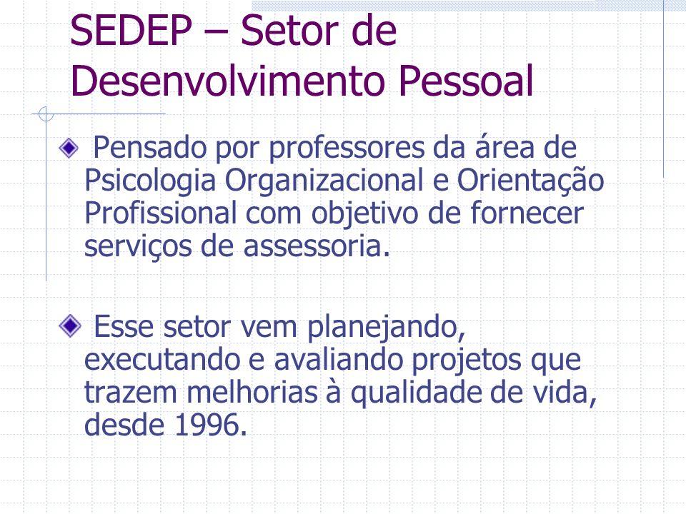 Pensado por professores da área de Psicologia Organizacional e Orientação Profissional com objetivo de fornecer serviços de assessoria.