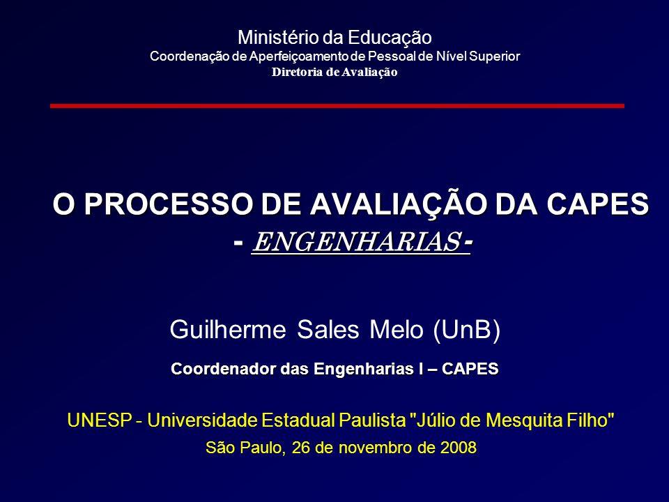 Parâmetros utilizados pelas Engenharias 1.Área Madrinha / Fora Área Madrinha 2.