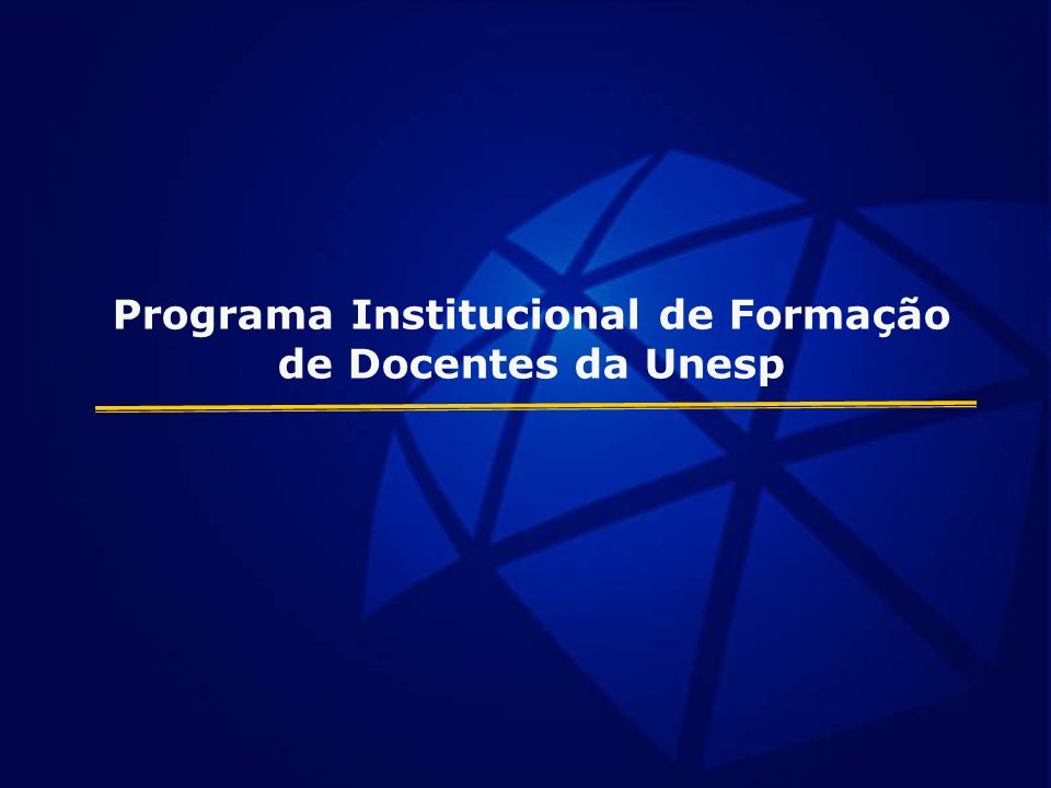 Programa Institucional de Formação de Docentes da Unesp