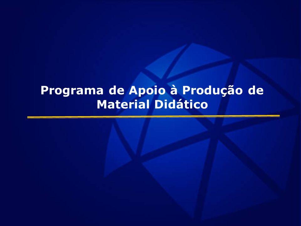 Programa de Apoio à Produção de Material Didático