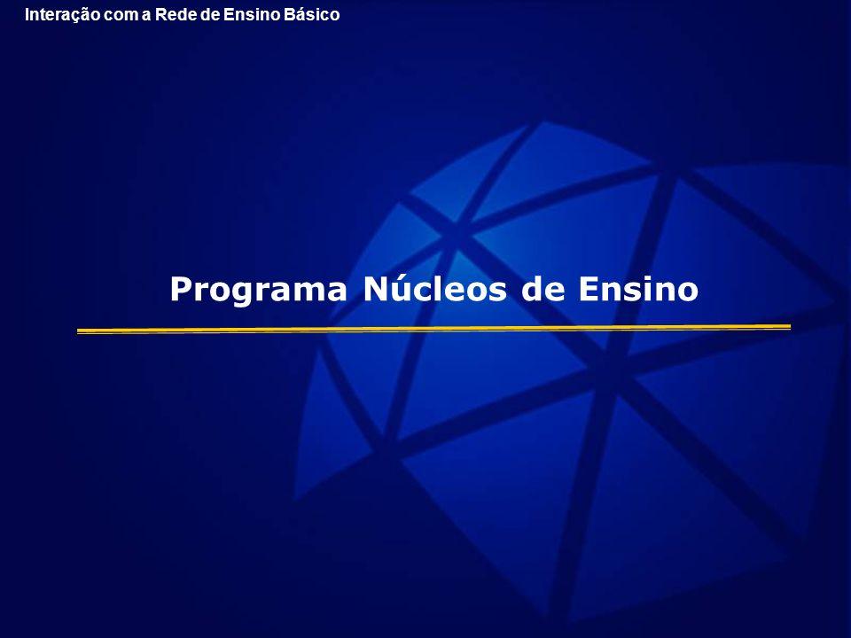 Programa Núcleos de Ensino Interação com a Rede de Ensino Básico